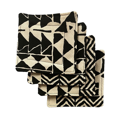 Black & White Tribal Set of 4 Coasters