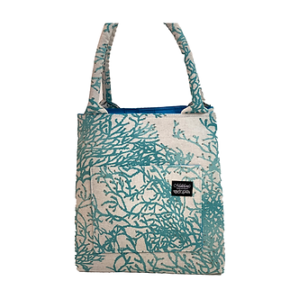 Enchanted Coral Reef in Teal Manapua