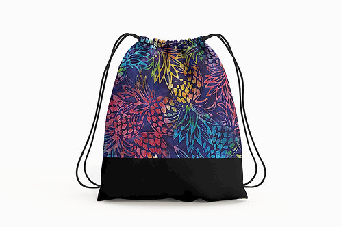 Pineapple Batik Cinch Backpack