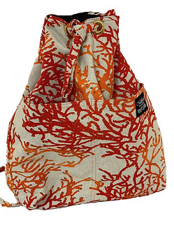 Enchanted Coral Reef in Salmon Backpack