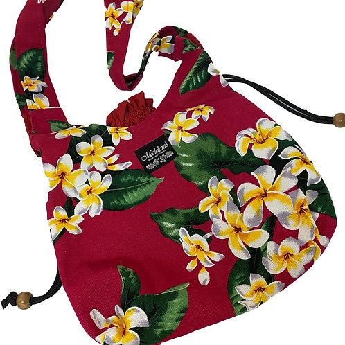 Plumeria Garden Drawstring Bag