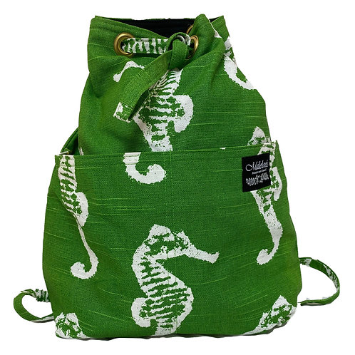 Seahorse Quilted Backpack