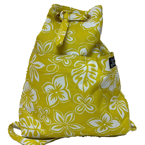 Hibiscus Quilted Backpack