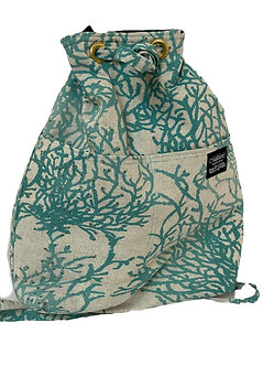 Enchanted Coral Reef in Turquoise Backpack