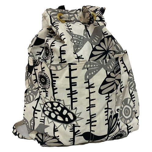 Shades of Gray Quilted Backpack