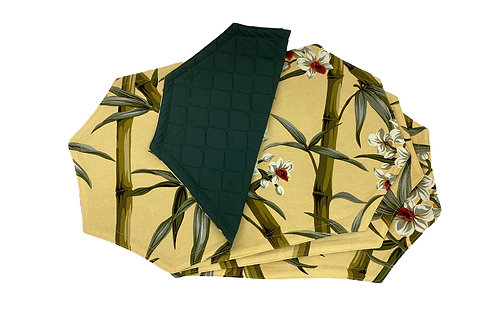 Bamboo & Orchids Set of 4 Placemats