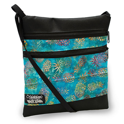 Turquoise Pineapple Batik Elite Travel Bag
