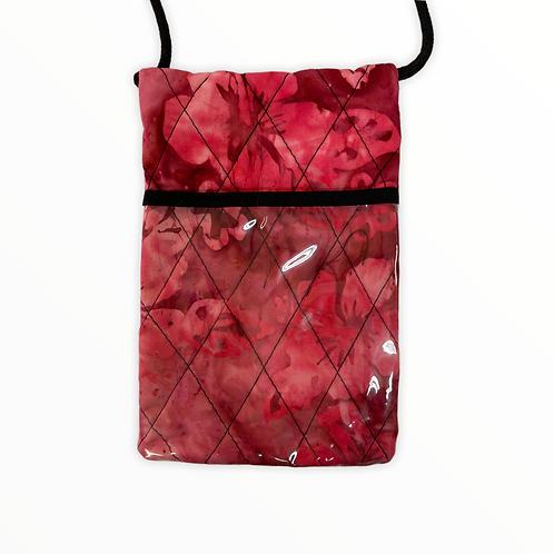 Hibiscus & Fern Batik Cell Phone Tote