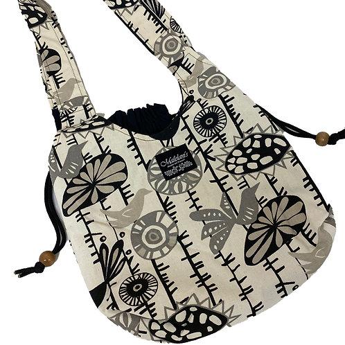 Shades of Gray Drawstring Bag