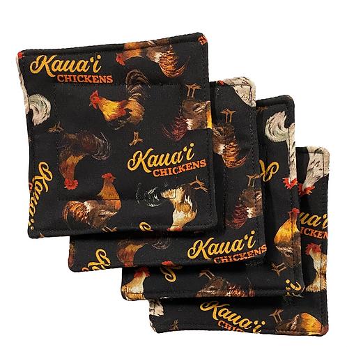 Kaua'i Chickens Set of 4 Coasters