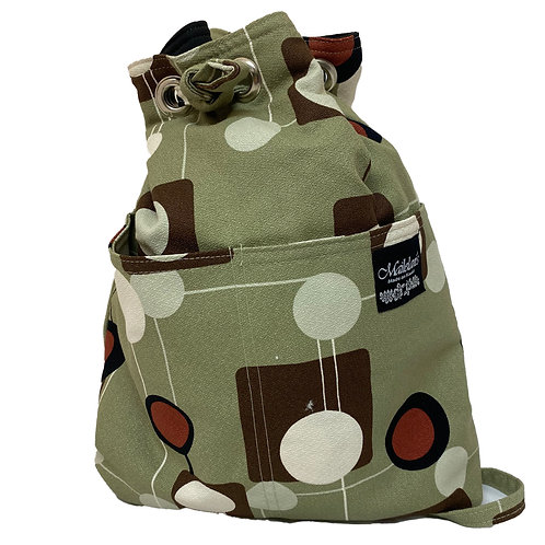 Circle Art Quilted Backpack