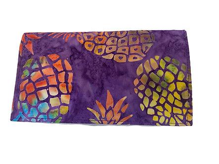 Purple Pineapple Batik Checkbook