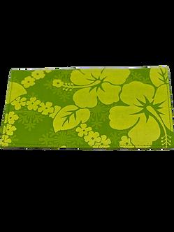 Minty Green Hibiscus Checkbook