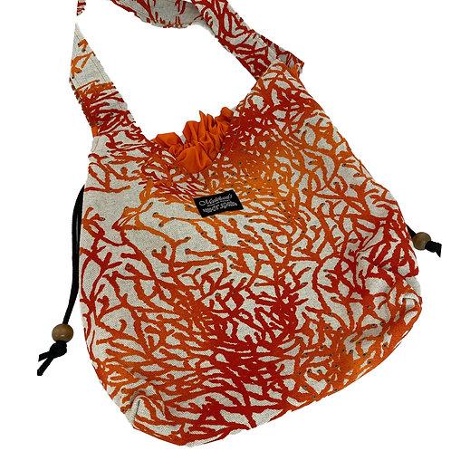 Enchanted Coral Drawstring Bag