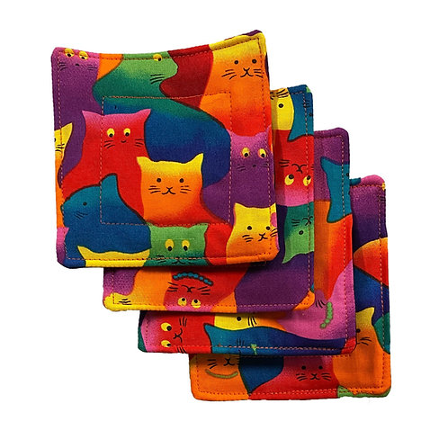 Kitty Cat Set of 4 Coasters