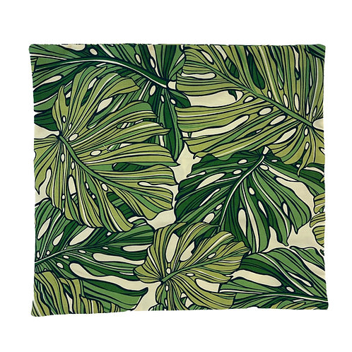 Aloha Monstera Pillow Cover