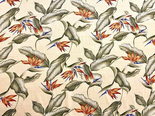 Bird of Paradise Cream Summer Fabric Sale