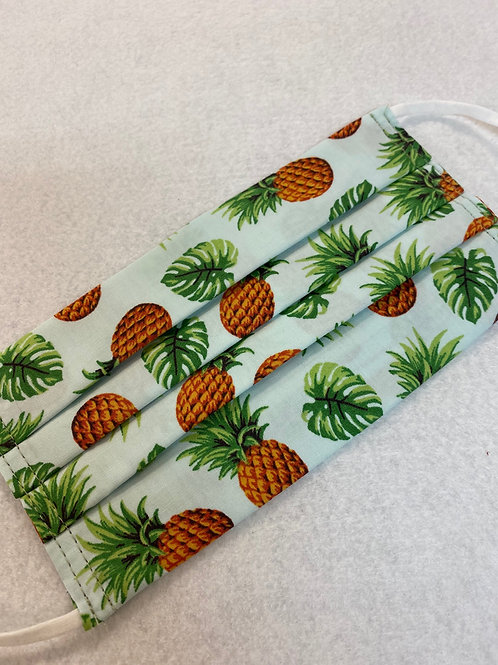 Pineapples & Monstera Leaves Face Mask