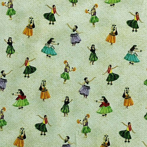 Lovely Hula Hands Fabric by the Yard