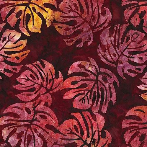 Monstera Batik Fabric by the Yard