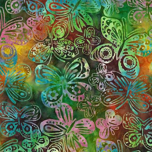 Butterfly Batik Fabric