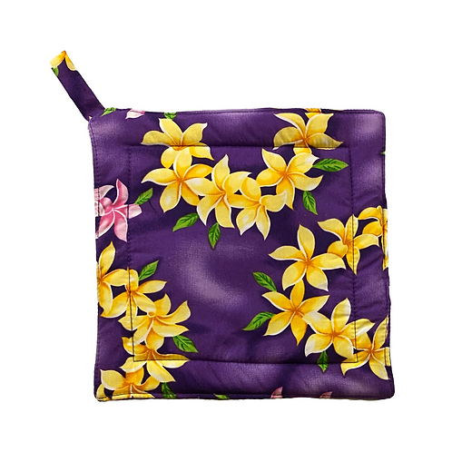 Purple Plumeria Lei Potholder