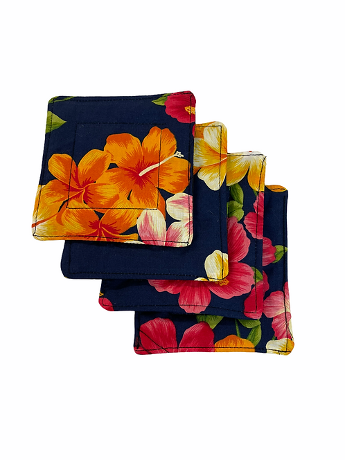 Hibiscus Summer Set of 4 Coasters