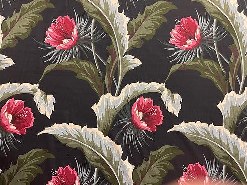 Tropical Oasis Black Summer Fabric Sale