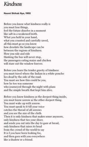 Poem About Kindness