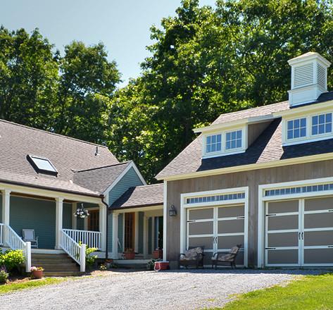 House, breezeway and garage