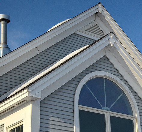 Exterior windows and roof