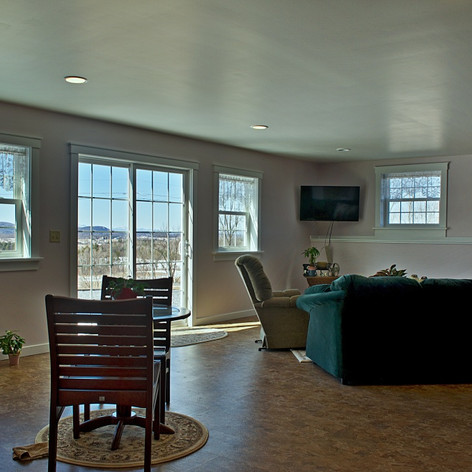 Downstairs living room looking west