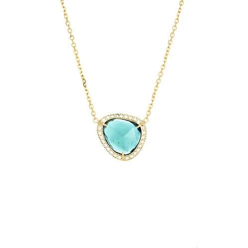 GISELE NECKLACE: BLUE TOURMALINE
