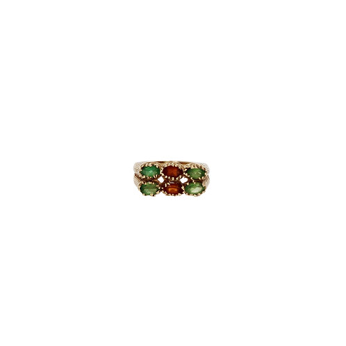 GARNET MULTI-COLORED RING