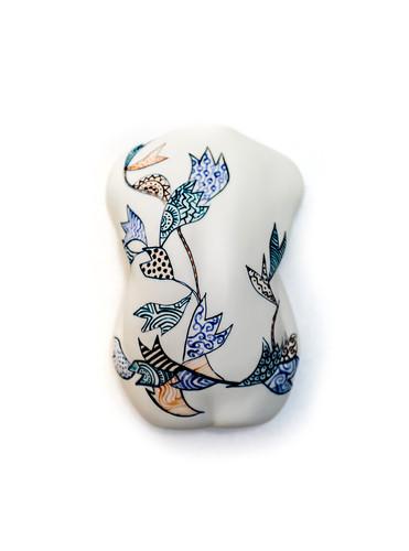 Hana-moyou man Ceramic