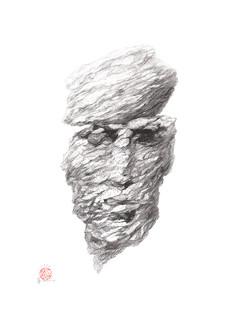 stone man's face