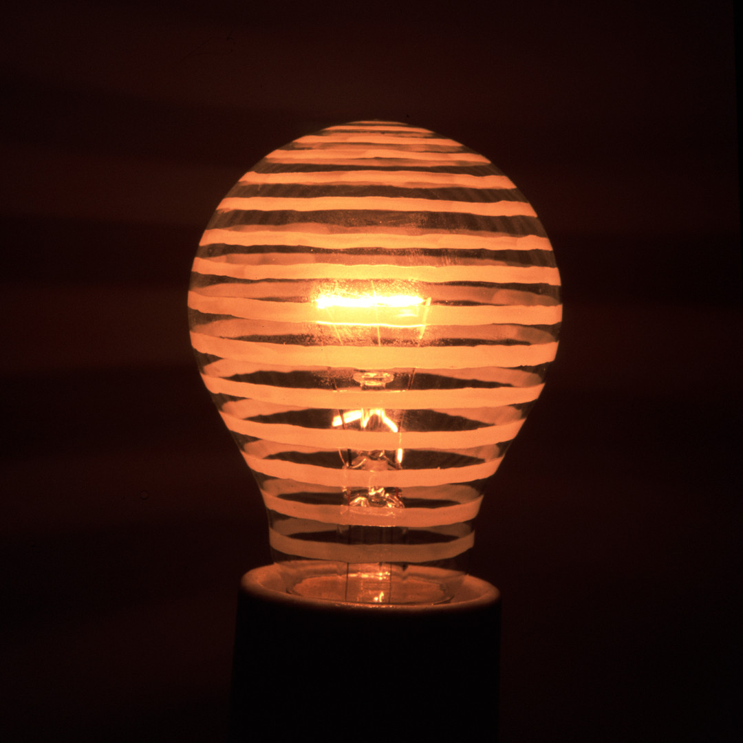 decorated on light bulb