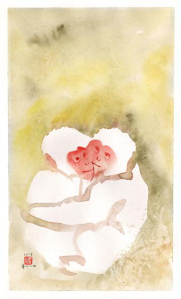 白猿 White monkies