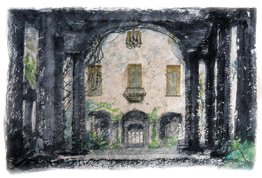 Watercolour Villa Mozzoni