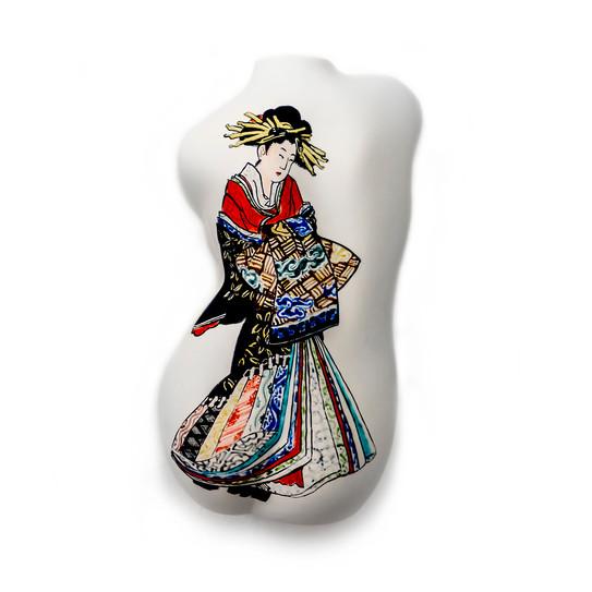 #oiran #ukiyoe #back #twist Ceramic Sculpture