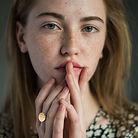 Menina jovem, com, sardas