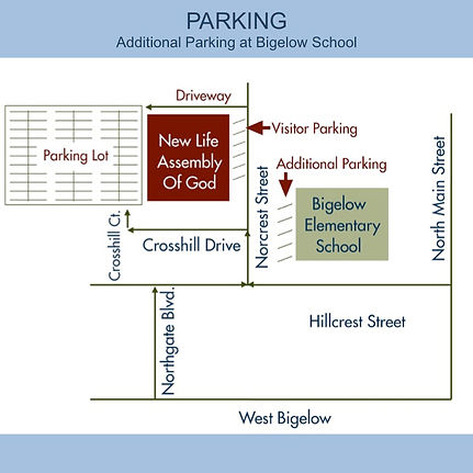Map of Parking at New Life