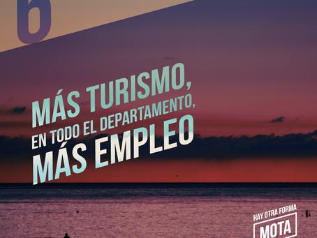 Más turismo, en todo el Departamento, más empleo