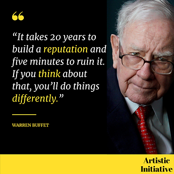 """""""It takes 20 years to build a reputation"""