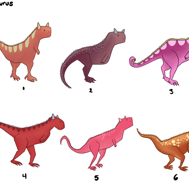Carnotaurus Character Design