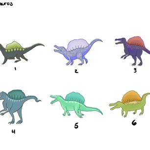 Spinosaurus Character Design