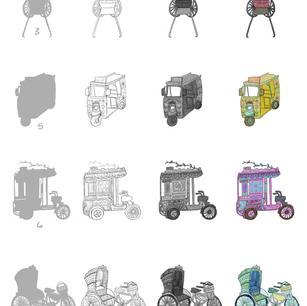 Rickshaw Racing Line and Color