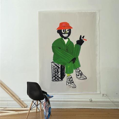 Gentleman in Green, 2021 188 x 225 cm