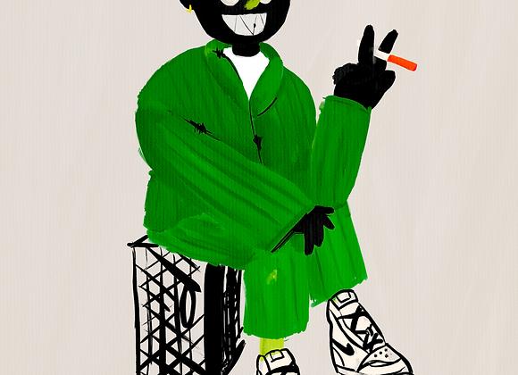 Gentleman in Green Print