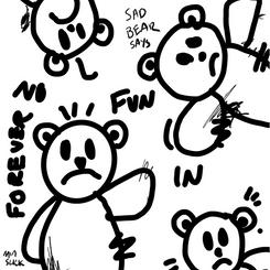 Sad Bear Doodle / 2020